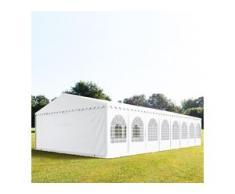 Partyzelt 8x16m PVC 550 g/m² weiß wasserdicht Gartenzelt, Festzelt, Pavillon