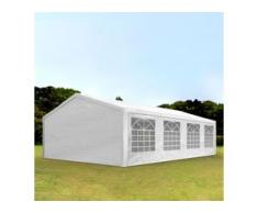 Partyzelt 5x8m PE 180g/m² weiß wasserdicht Gartenzelt, Festzelt, Pavillon