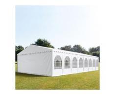 Partyzelt 8x28m PVC 550 g/m² weiß wasserdicht Gartenzelt, Festzelt, Pavillon