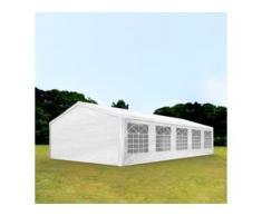 Partyzelt 5x10m PE 180g/m² weiß wasserdicht Gartenzelt, Festzelt, Pavillon