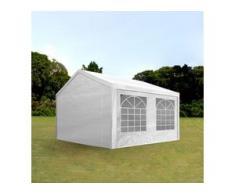 Partyzelt 3x5m PE 180g/m² weiß wasserdicht Gartenzelt, Festzelt, Pavillon
