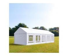 Partyzelt 3x10m PVC 500 g/m² weiß wasserdicht Gartenzelt, Festzelt, Pavillon