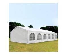 Partyzelt 5x12m PE 240g/m² weiß wasserdicht Gartenzelt, Festzelt, Pavillon
