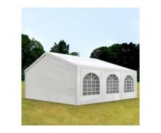 Partyzelt 5x6m PE 240g/m² weiß wasserdicht Gartenzelt, Festzelt, Pavillon