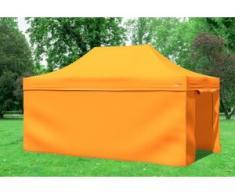 """3x4,5 m Faltpavillon Professional ALU Polyester 330 g/m² - 100 % wasserdicht - Orange inkl. Seitenwänden"""" """""""