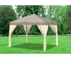 "3x3 m Pavillon SAHARA Polyester-PVC 280 g/m² - wasserdicht - Braun inkl. Seitenwänden"" """