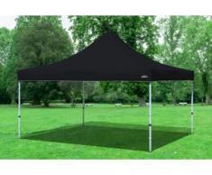 "4x4 m Faltpavillon Professional ALU Polyester 330 g/m² - 100 % wasserdicht - Schwarz"" """
