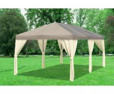 "3x6 m Pavillon SAHARA Polyester-PVC 280 g/m² - wasserdicht - Braun inkl. Seitenwänden"" """