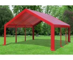 "5x6 m Partyzelt Modular Professional PVC 500 g/m² - wasserdicht - Rot"" """