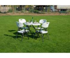 Sitzgruppe 5-tgl. Klappbar Gartenmöbel Sitzgarnitur Gartenset
