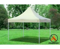 """3x3 m Faltpavillon Prof.+ ALU FR PVC 550 g/m² - 100 % wasserdicht - Beige"""" """""""