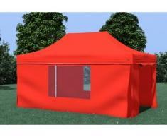 Faltpavillon ALU 3x4,5 m ProfessionalPlus rot wasserdicht Faltzelt