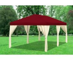 "3x6 m Pavillon SAHARA Polyester-PVC 280 g/m² - wasserdicht - Bordeaux inkl. Seitenwänden"" """