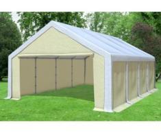 """5x8 m Partyzelt, Lagerzelt Modular Professional PVC 500 g/m² - wasserdicht - Weiß Beige inkl. Seitenwänden"""" """""""