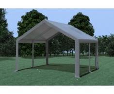 Partyzelt Pavillon 4x4m Modular Pro PVC wasserdicht grau