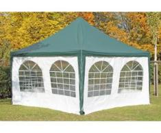 Pavillon 4x4m grün / weiß PVC Pagodenzelt Arabica Profi wasserdicht