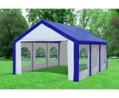 """4x6 m Partyzelt Modular Pro PE 240 g/m² - wasserdicht - Blau Weiß inkl. Seitenwänden mit Fenster"""" """""""