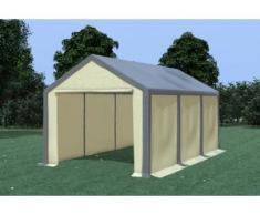 Partyzelt Pavillon 3x6m Modular Pro PVC wasserdicht grau / beige
