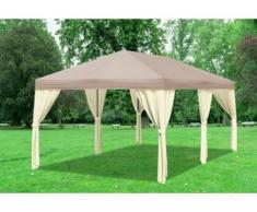 """3x6 m Pavillon SAHARA Premium-PVC 400 g/m² - wasserdicht - Braun inkl. Seitenwänden"""" """""""