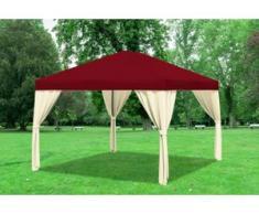 "3x4 m Pavillon SAHARA Polyester-PVC 280 g/m² - wasserdicht - Bordeaux inkl. Seitenwänden"" """