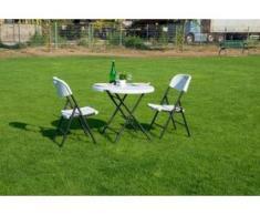 Sitzgruppe 3-tgl. Klappbar Gartenmöbel Sitzgarnitur Gartenset
