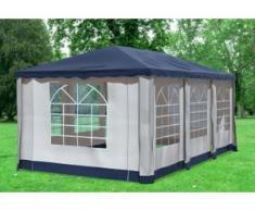 """3x6 m Pavillon DELUXE Premium-PVC 400 g/m² - wasserdicht - Blau inkl. Seitenwänden mit Fenster"""" """""""