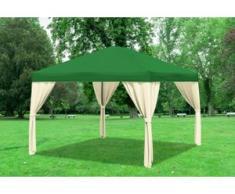 "3x4 m Pavillon SAHARA Polyester-PVC 280 g/m² - wasserdicht - Grün inkl. Seitenwänden"" """