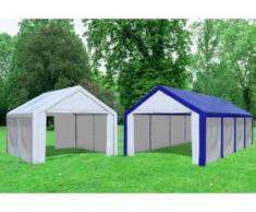 """Kombi 2in1 4x4 zu 4x8 m Partyzelt Modular Pro PE 240 g/m² - wasserdicht - Blau Weiß inkl. Seitenwänden"""" """""""