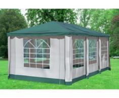 """3x6 m Pavillon DELUXE Polyester-PVC 280 g/m² - wasserdicht - Grün inkl. Seitenwänden mit Fenster"""" """""""
