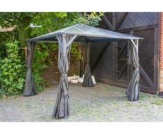 Aluminium Hardtop Pavillon 3x3m Romance wasserdicht stabil