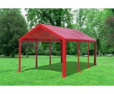 "3x6 m Partyzelt Modular Professional PVC 500 g/m² - wasserdicht - Rot"" """