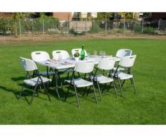 Sitzgruppe 9-tgl. Klappbar Gartenmöbel Sitzgarnitur Gartenset