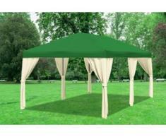 "3x6 m Pavillon SAHARA Polyester-PVC 280 g/m² - wasserdicht - Grün inkl. Seitenwänden"" """