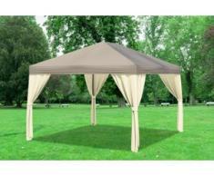 "3x4 m Pavillon SAHARA Polyester-PVC 280 g/m² - wasserdicht - Braun inkl. Seitenwänden"" """