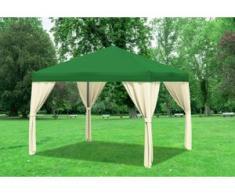 "3x3 m Pavillon SAHARA Polyester-PVC 280 g/m² - wasserdicht - Grün inkl. Seitenwänden"" """