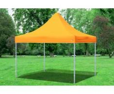 "3x3 m Faltpavillon Prof.+ ALU Polyester 330 g/m² - 100 % wasserdicht - Orange"" """