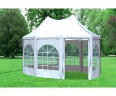 """3x4,1 m Pavillon ARABICA PVC 400 g/m² - wasserdicht - Weiß inkl. Seitenwänden mit Fenster"""" """""""