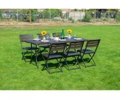 Sitzgruppe 7-tgl. Klappbar Gartenmöbel Sitzgarnitur Gartenset