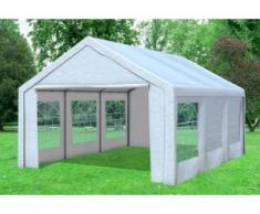 """4x6 m Partyzelt Classic Premium PVC 400 g/m² - wasserdicht - Weiß inkl. Seitenwänden"""" """""""