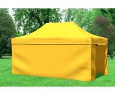 """3x4,5 m Faltpavillon Professional ALU Polyester 330 g/m² - 100 % wasserdicht - Gelb inkl. Seitenwänden"""" """""""