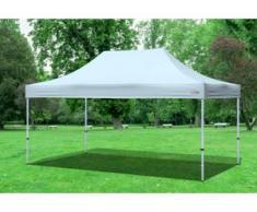 "3x4,5 m Faltpavillon Professional ALU Polyester 330 g/m² - 100 % wasserdicht - Grau"" """