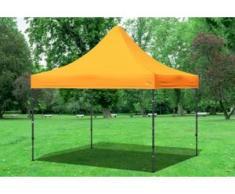 "3x3 m Faltpavillon PREMIUM STAHL Polyester 330 g/m² - 100 % wasserdicht - Orange"" """
