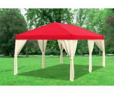 """3x6 m Pavillon SAHARA Premium-PVC 400 g/m² - wasserdicht - Grün inkl. Seitenwänden"""" """""""