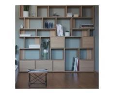 Konfigurierbare Eichen-Bücherregal - Furnier
