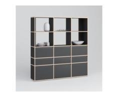 Individualisierbar: Bücherregal aus Multiplexplatte in Schwarz - Moderne Designer-Möbel nach Maß.