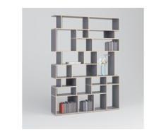 Individualisierbar: Bücherregal aus Multiplexplatte in Grau - Moderne Designer-Möbel nach Maß.