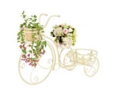 vidaXL Blumentreppe Fahrradform Vintage-Stil Metall