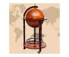 vidaXL Globus-Bar mit Flaschenregal Eukalyptusholz