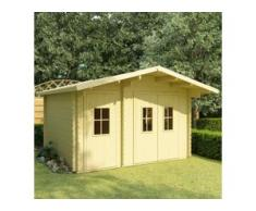 vidaXL Blockhaus mit Boden 44 mm 410×320×264 cm Massivholz Kiefer