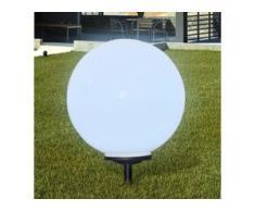 vidaXL Außenlampe Solarkugel Kugellampe Solarlampe LED 1 tlg.
